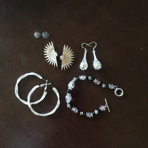 Handmade earrings and bracelet